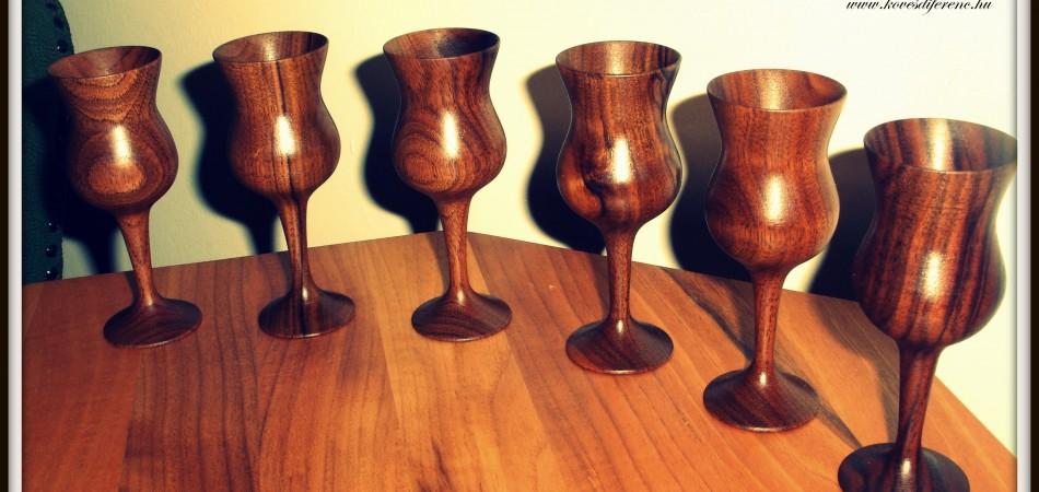 különleges fa poharak, fa poharak, fa korsók, fa korsó, esztergált pohár, pohár esztergálás, fa kínálók